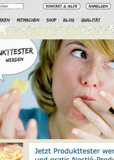 Nestlé Produkttester werden: So geht's!