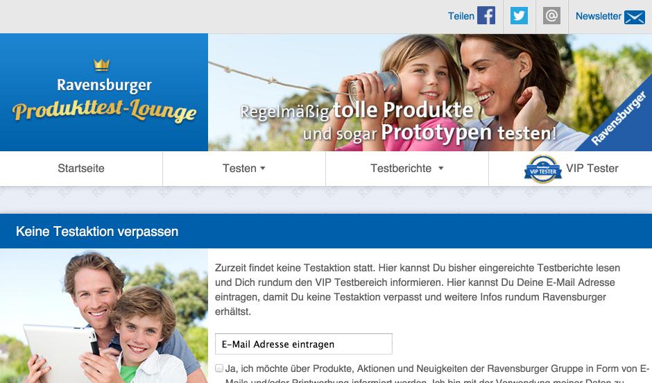 Ravensburger Produkttester Werden So Gehts Heimarbeit De
