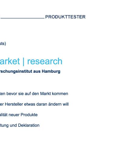 Schäfer Produkttester werden: So gehts!