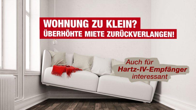 Wohnung zu klein - Hartz-IV-Empfänger dürfen überhöhte Miete zurückverlangen