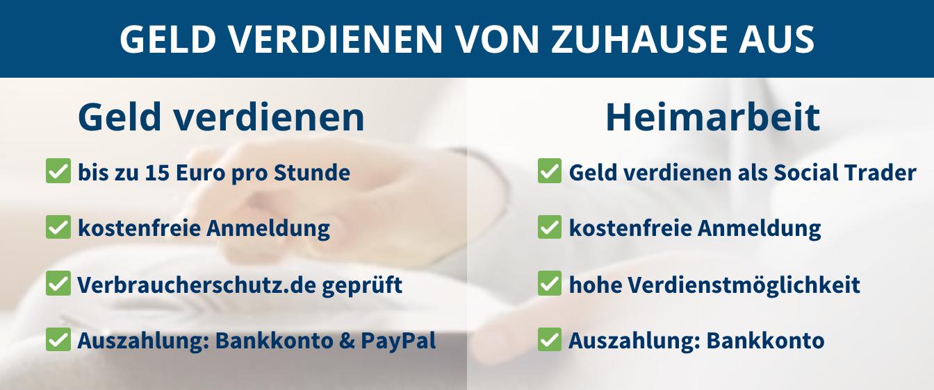 online nebenbei geld verdienen