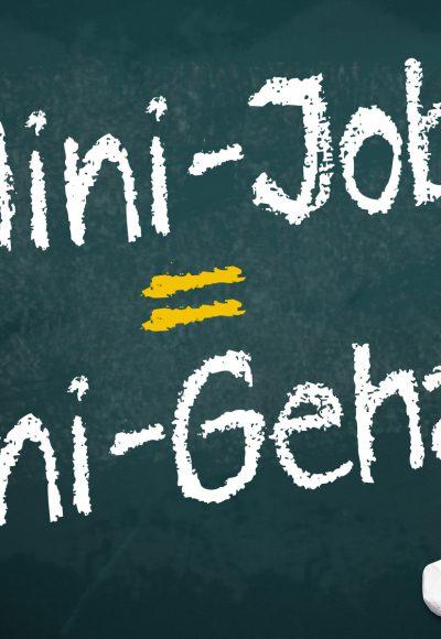 Minijobs münden in Minirente