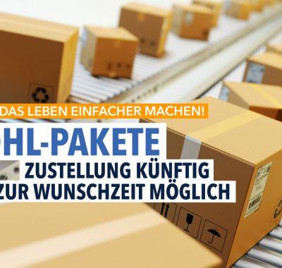 Zustellung von DHL-Paketen künftig zur Wunschzeit möglich