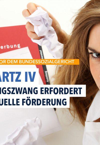Hartz IV: Bei Bewerbungszwang müssen Kosten übernommen werden