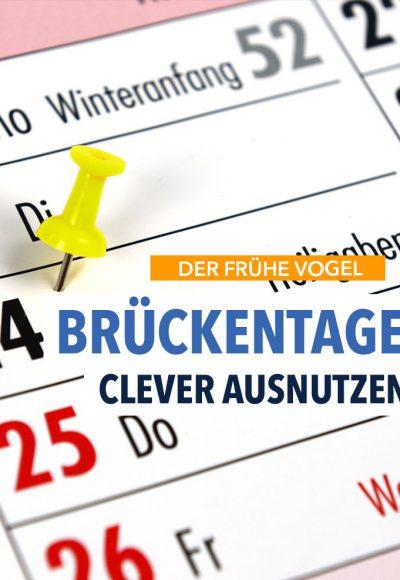 Brückentage für Arbeitnehmer: Schnell für 2017 planen!