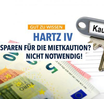 Hartz IV: Mietkaution von den Regelleistungen abzuzahlen?
