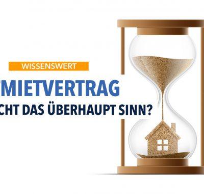 Zeitmietvertrag – Das sollten Sie wissen!