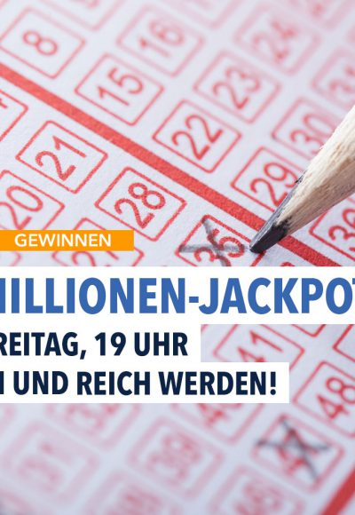 Der 90 Millionen-Jackpot wartet auf Sie!