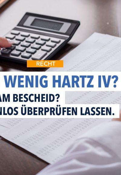 Die Hälfte aller Hartz-4-Empfänger bekommt zu wenig Geld: So prüfen Sie, ob Sie zu wenig erhalten!