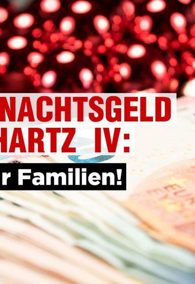 Weihnachtsgeld bei Hartz IV: Nur für Familien!