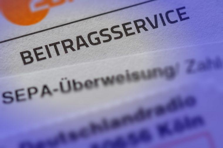 Rundfunkgebühren: Barzahlungen nicht zugelassen!